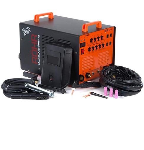La inversor soldador ROHR WSME-250 AC/DC puede realizar soldaduras TIG y MMA