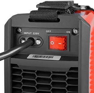 soldador greencut parte posterior con cable e interruptor de encendido y apagado